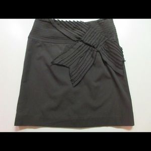 Anthropologie skirt Kitty label front bow sz 4